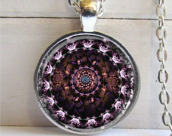 Mandala Pendant, Soothing Art Mandala Necklace, Mandala Jewelry