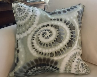 Blue and Brown Swirl Print Pillow Cover18 x 18 Inch throw billow/decorative pillow/pillowcase,