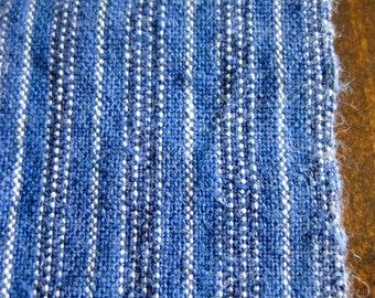 Vintage handwoven Chinese indigo dyed cotton fabric