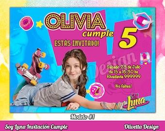 Soy Luna Invitation for Birthday Soy Luna Birthday, Soy Luna Invitation, Soy Luna, Soy Luna Printable, Soy Luna Invite - Digital File