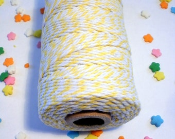 Thick Bakers Twine Yellow - 100 yard Spool - 12 ply