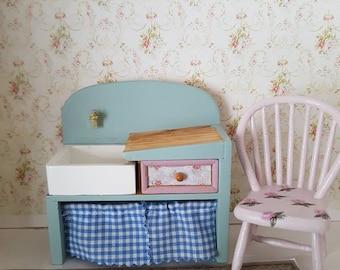 Dollhouse Kitchen Sink Dollhouse miniaturesdoll house miniatureswhite rocking dollhouse miniaturedoll house miniaturesdollhouse kitchen sinkdollhouse belfast sinkcountry workwithnaturefo