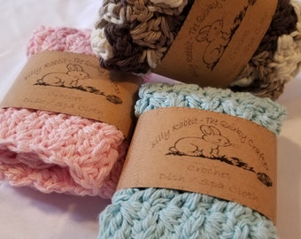 Crochet WashCloth (Set of 3)