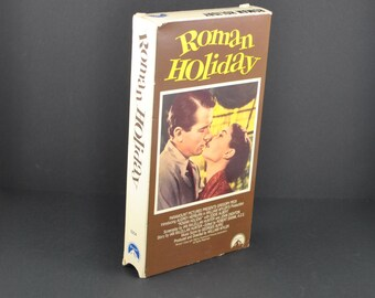 Vintage Roman Holiday VHS Tape - 1953 Remake - Gregory Peck & Audrey Hepburn - Movie - MGM - Comedy - Romance - VCR