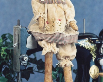 Sarah - Cloth Doll E-Pattern 18in Country Girl Bear E-pattern