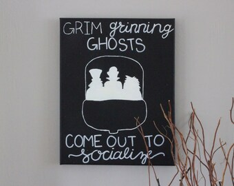 Glow in the Dark Haunted Mansion Inspired Silhouette Painting