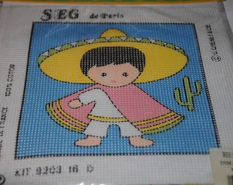 """Printed canvas, """"the little Mexican"""" Kit"""