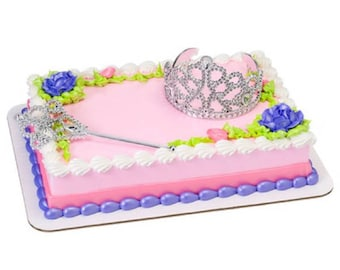 Princess Crown and Scepter Cake Topper