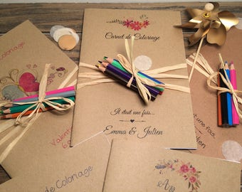wedding coloring book / wedding favor / kids wedding