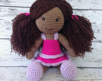Lucy the Doll, Crochet Doll Stuffed Toy, Baby Doll Amigurumi, Plush Animal, MADE TO ORDER