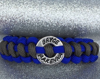 Paracord Bracelet with Personalized Washer