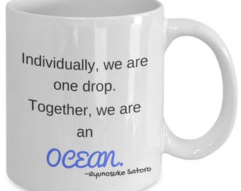 Together we are an ocean mug