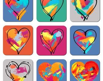 Art Coasters - Hearts