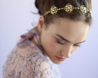 Bridal headband - Victorian inspired decadent headband - Style 641 - Ready to Ship