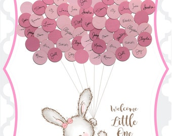 Baby Shower Guest Book Alternative Print - Ballerina Bunny