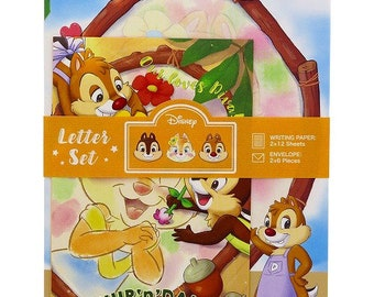 Chip 'n Dale and Clarice Letter Set - Writting Paper and Envelope - Volume Type