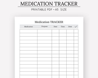 printable medication chart