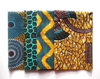 African print fat quarters, Mustard and Teal Fat Quarters, Ankara Fat Quarters, 4 Fat Quarters, Patchwork fabric, Quilting fabric