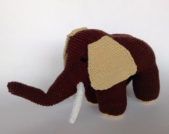 Brown elephant plush