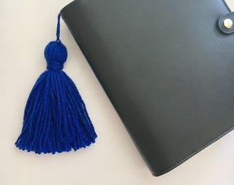 Royal Blue Sparkle Tassel Keychain/ Handbag Accessory/ Planner Accessory