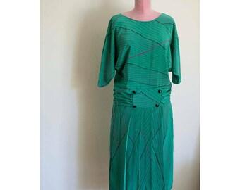 Mojie 80s does 20s Drop Waist Dress