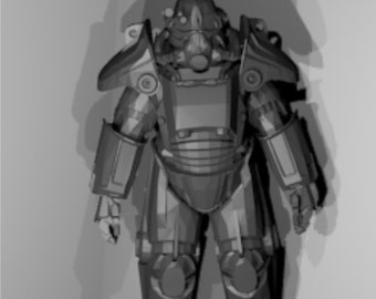 Fallout T-45 power armor suit replica, patterns to build your own for cosplay