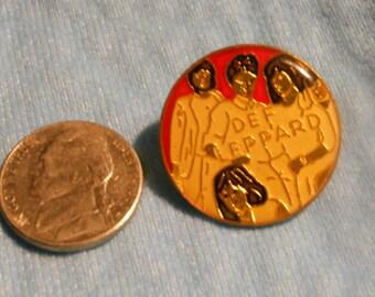 1980s Def Leppard Enamel Tie Tack, Lapel Pin Back
