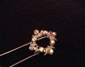 Vintage Hair Pin with Rhinestones