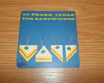 Vintage Recipe Booklet 1950s Good Luck Margarine 49 Fresh Ideas For Sandwiches  Advertising Sandwich 50s Cookbook