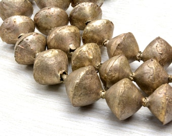 bicone Rustic beads ,old silver beads ,9.5x10mm , hole 1mm ,Jewelry Supplies Beads