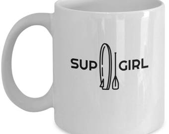 Stand Up Paddle Board Mug, SUP girl Mug, SUP Mug
