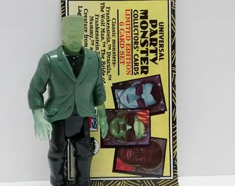 COMBO- Universal Monsters FRANKENSTEIN Action Figure and Trading Cards