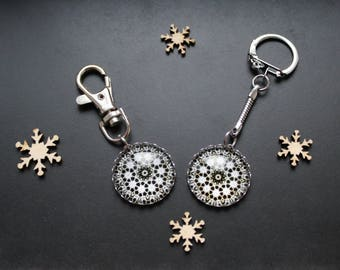 Keychain or handbag black & white