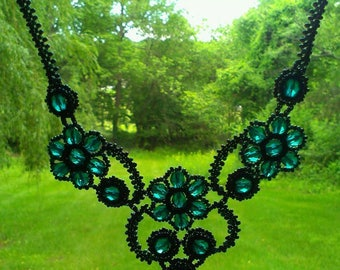 Victorian Glass Beaded Necklace