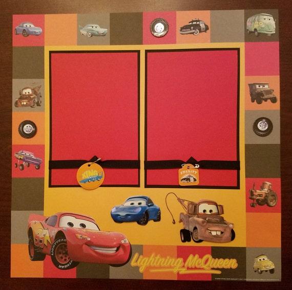 Disney Pixar Cars Premade Scrapbook Layout 1 Page 12\