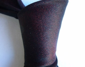 Dark Burgundy Silk Tie with Glazed Sheen Finish