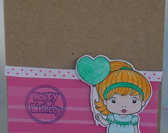 Happy Birthday Heart Balloon Marci Card