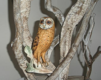 Vintage Ceramic Owl by Goebel Brown Owl Owl on a Branch