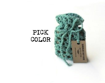 Soap Saver Soap Bag Crochet Soap Saver Soap Pouch Soap Sack Soap Holder Cotton Soap Saver Soap Gift Soap Accessory Soap Cozy Hostess Gift