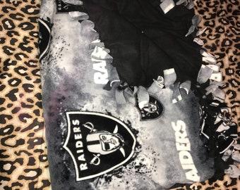 Raiders fleece blanket