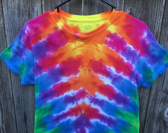 Adult small rainbow tie dyed tshirt