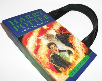 Book Purse Harry Potter Half Blood Prince, Upcycled Women's Fashion Clutch