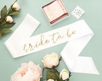 Bride to Be Sash - Bachelorette Sash Custom Bachelorette Sash Bride Sash Gold & Pink Bride Sash Bride To Be Sash Future Mrs Sash (EB3172CT)