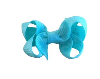 Small aqua hair bow - aqua bows, small bows, baby bows, toddler hair bows, girls bows, hair bows, girls hair bows, aqua hair bows, hair bow