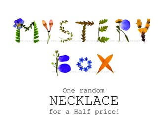 Mystery ⇷18mm⇸ resin necklace | UralNature Mystery box | Random Grab bag gift Mystery Parcel Surprise box Lucky dip Grabbag mystery listing