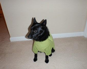 Green Fleece Dog Shirt