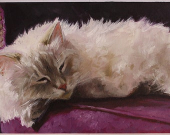 Custom Pet Portrait, Oil On Canvas, Cat Portrait, Dog Portrait
