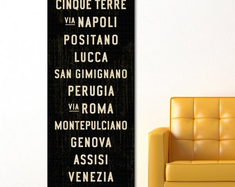 ITALY SUBWAY SIGN Art, Italian Decor, Subway Art, Italian Kitchen Decor, Tuscan Wall Art, Italian Wall Art, Travel Art Poster, Word Art.