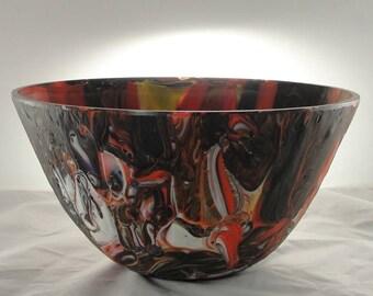 Handmade Fused Glass Bowl