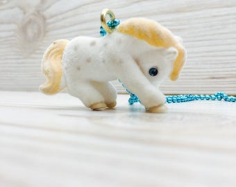 Kitsch pony necklace, pony in my pocket, my little pony, cute pony necklace, pony pendant, kids jewellery
